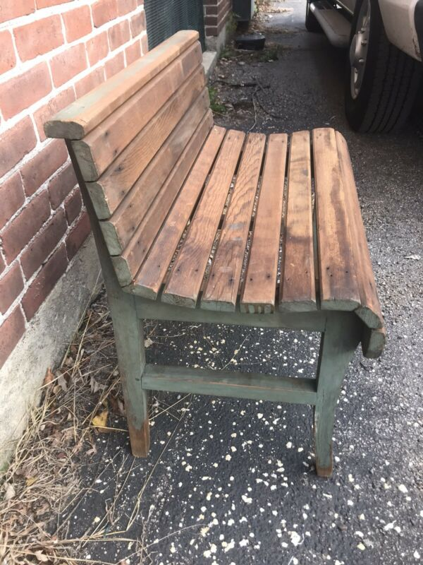 Antique Farm House Country Bench Seat Chair Porch Yard Garden Farm Furniture Vtg