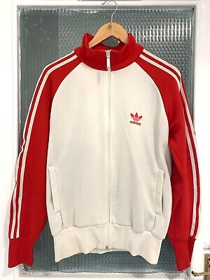 Vintage Adidas Originals track top Medium Wht/Red