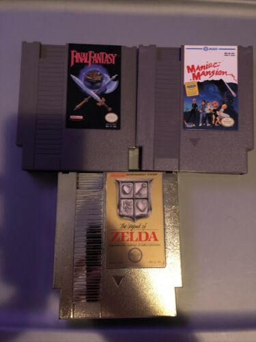 Nintendo NES Game Lot Legend Of Zelda, Final Fantasy, Maniac Mansions  - $50.00