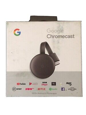 **BOX ONLY **Google Chromecast 3rd Gen Digital Hdmi Media Streaming** BOX ONLY**