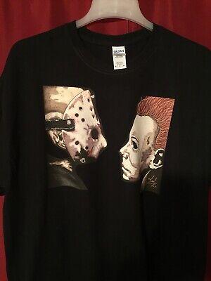 n VS Halloween Michael Myers T-Shirt BlackS-XL Gildan Cotton (Michael Vs Jason)