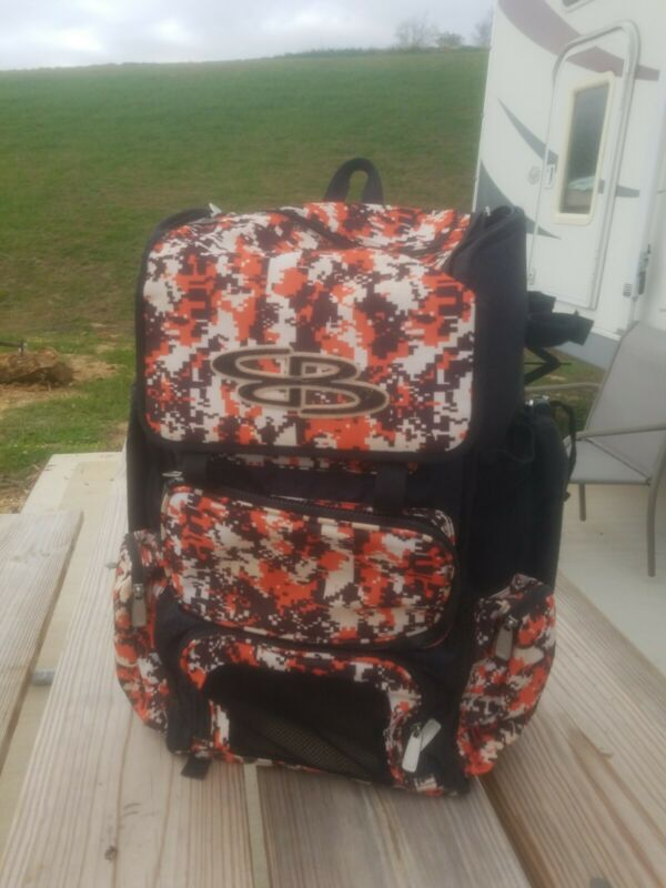 Boombah Superpack Baseball/Softball Bat Pack/Backpack - Pixel Orange Camo
