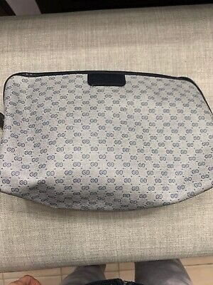 AUTHENTIC VINTAGE GUCCI GG LOGO COSMETIC BAG CLUTCH PURSE