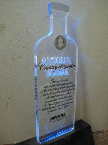 Norwegian Advertising: Jodd Display Design Vodka Absolut Lamp. Rare !!!