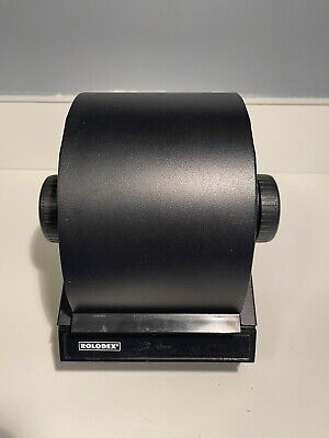 Mid Century Rolodex 2254d Vintage Metal Rotary Flip Card File Box W Index Cards