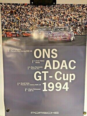 Porsche ONS ADAC GT - Cup 1994 STUTTGART Vintage Poster