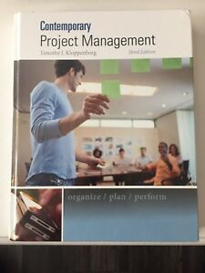 Contemporary Project Management 2011 MSVU *Like New!
