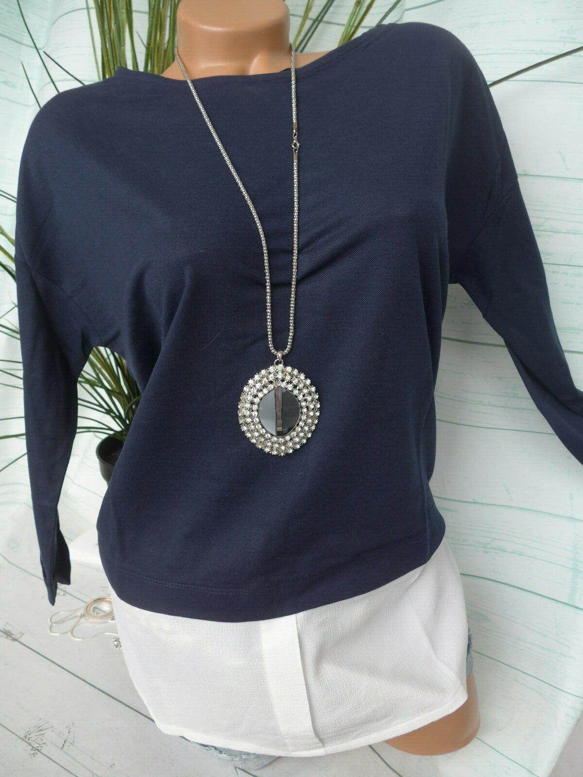 Esprit EDC Shirt Bluse Damen Gr. S bis XL Blusenansatz unten (706) NEU
