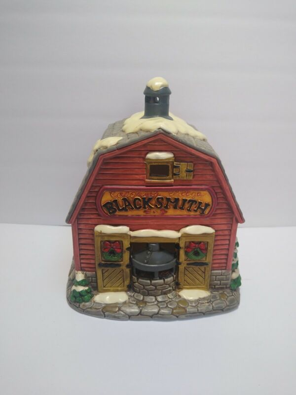 Christmas Colonial Village by Lefton - The Blacksmith