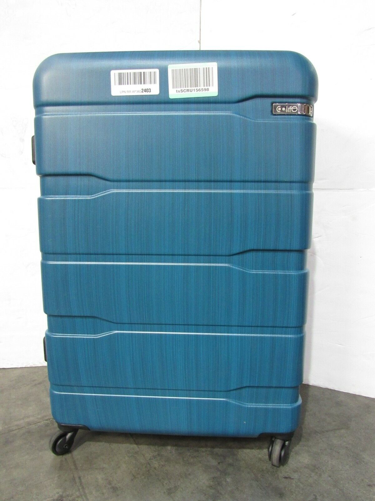 USED Coolife 1 Luggage Suitcase PC ABS Spinner Hard Plastic TSA Blue 28 A65 - $65.99