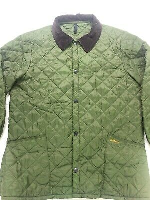 Barbour Quilted Field Jacket Mens XL Green