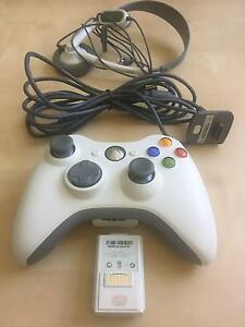 XBox 360 Controller + Charger Cable + Headset Hurstville Hurstville Area Preview