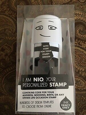 Nio Personalized Stamp With Voucher And Fancy Gray Ink Pad Self-inking 1.56 D