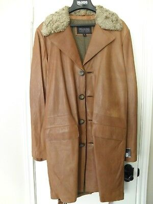 Gent's soft leather Coat / Overcoat by Wilsons Pelle Studio, warm & soft: NWT