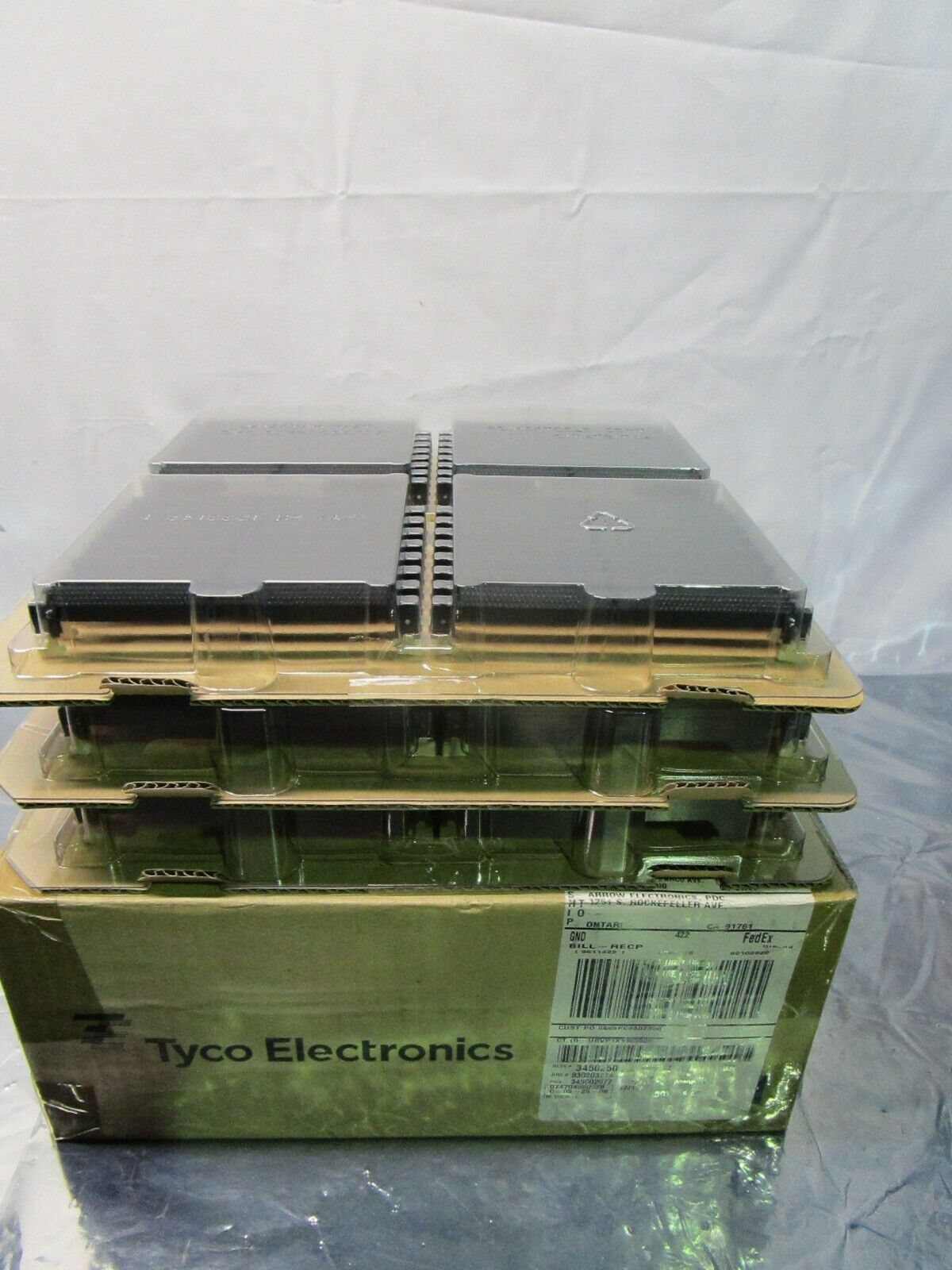 1 Lot of 96 Tyco Electronics 1658912-3 DDR DIMM ELECTRIVCAL CONNECTOR, 102520