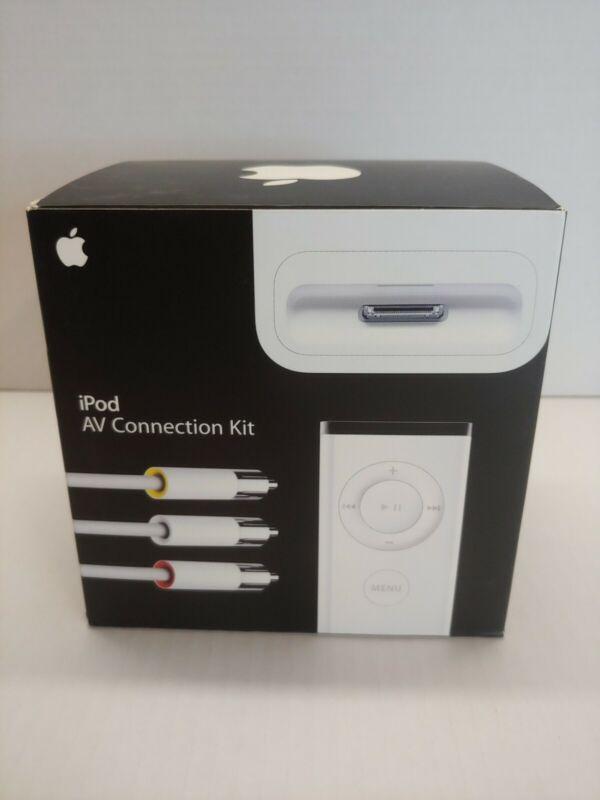 iPod Apple AV Connection Kit -Dock Connector & Remote Audio MA242LL/A NIB