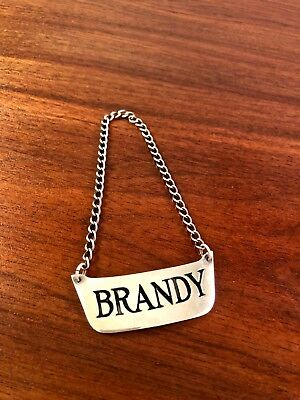 "CHARLES THOMAE STERLING SILVER ""BRANDY"" BOTTLE TAG"