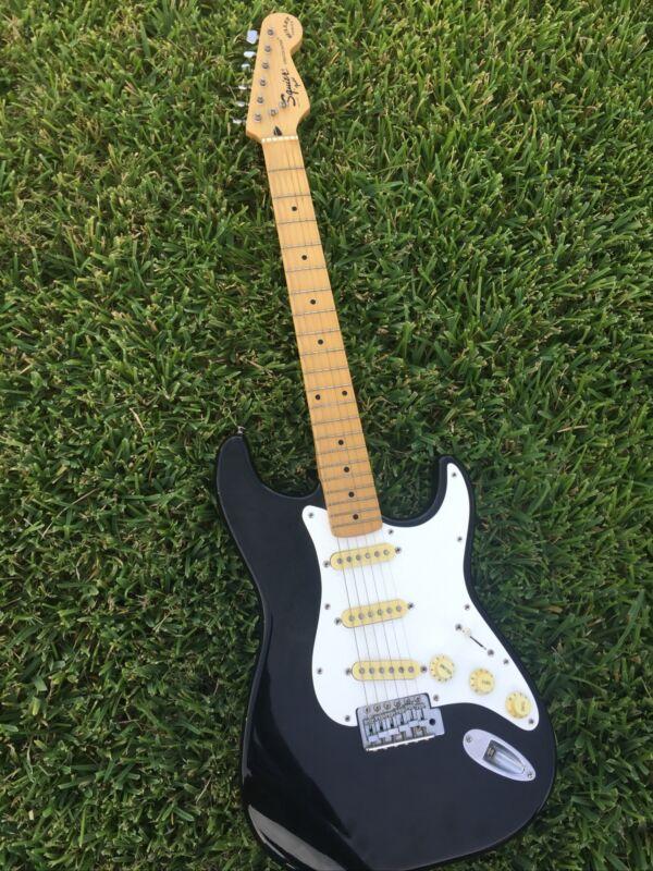 Vintage 1994 Fender Squier Stratocaster Bullet Series Black MIK NK4 Serial #