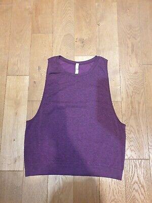 Lululemon Purple Layer Yoga Tank Top Size UK 12