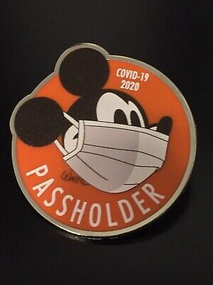 "Disney Pin Mickey Mouse Annual Passholder Pin Mickey In Mask WDW 1 3/4"" pin"