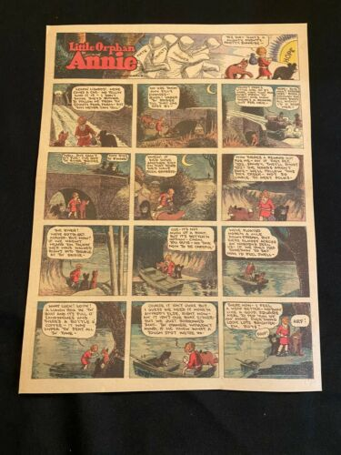 #91 LITTLE ORPHAN ANNIE by Harold Gray Lot of 6 Sunday Tabloid Full Pages 1930
