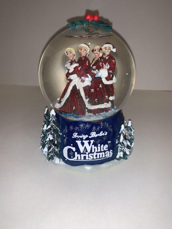 WHITE CHRISTMAS IRVING BERLIN BING CROSBY 2000 PARAMOUNT PICTURES SNOW GLOBE