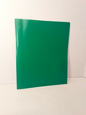 25 Pack Plastic Two Pocket Folders With Prongs 2 Pockets And 3 Prongs Green