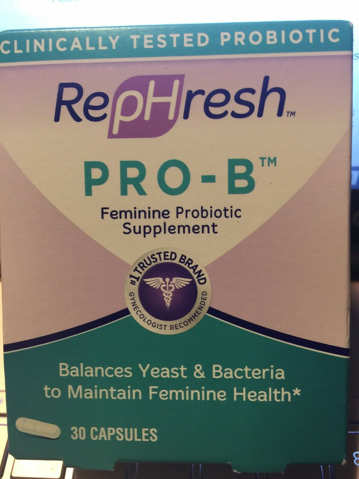 RepHresh Pro-B Probiotic Feminine Supplement, 30 Caps