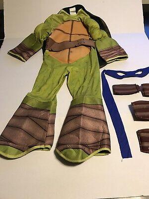 Teenage Mutant Ninja Turtle Costume Dress Up With Blue Eye Mask Small 4–6 - Ninja Turtle Eye Mask