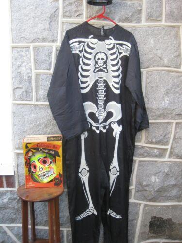 Vintage Halloween Adult/Teenager Collegeville Costume Skeleton Sz Med 38-40 w/bx