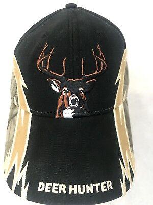 Deer Hunter Hat Ball Cap Preowned Dominate The Woods Hook Loop Back Buckwear 6b4beea62