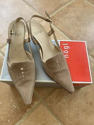 Brand New In Box Suede Hogl Shoes Size 5