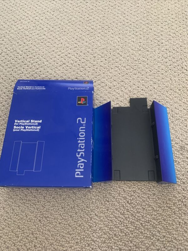 PS2 Vintage Vertical Stand for PlayStation 2 SCPH-10040 Blue Open Box