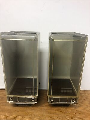 Two Vending Machine Vendstar 3000 Candy Canisters Complete With Candy Wheel