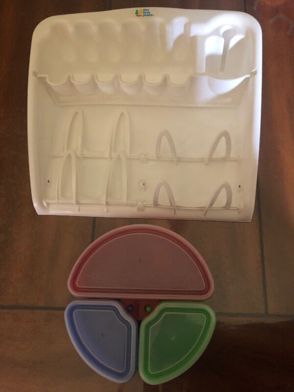 The First Years 2 In 1 Drying Rack(discontinued)&tumble Mates Container