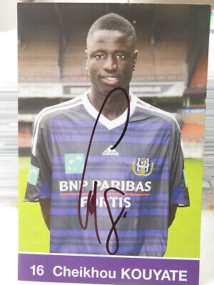 Cheikhou Kouyaté : Carte Postale RSC Anderlecht Signature Originale