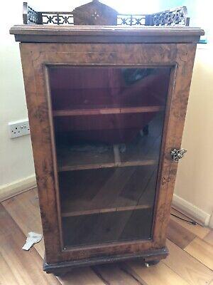 vintage antique display cabinet