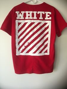 "OW Red T-shirt ""Graffiti"""
