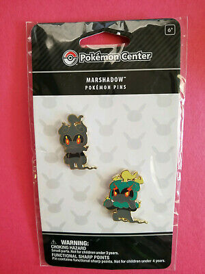 NEW - Pokemon Center Marshadow Pins - Evolution 2 Pack Nintendo