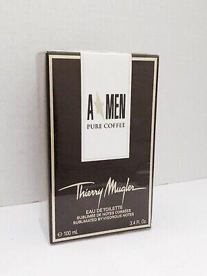 Thierry Mugler Angel A Men Pure Coffee 3.4 oz/100 ml EDT Spray NIB Sealed