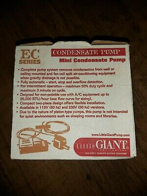Little Giant Ec-400 - 2 Gph Mini-splitductless Condensate Removal Pump Appears