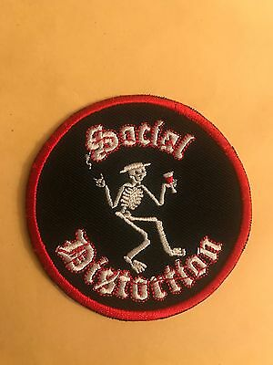 SOCIAL DISTORTION SKELETON MUSIC BAND EMBROIDERED PATCH IRON ON OR SEW ON
