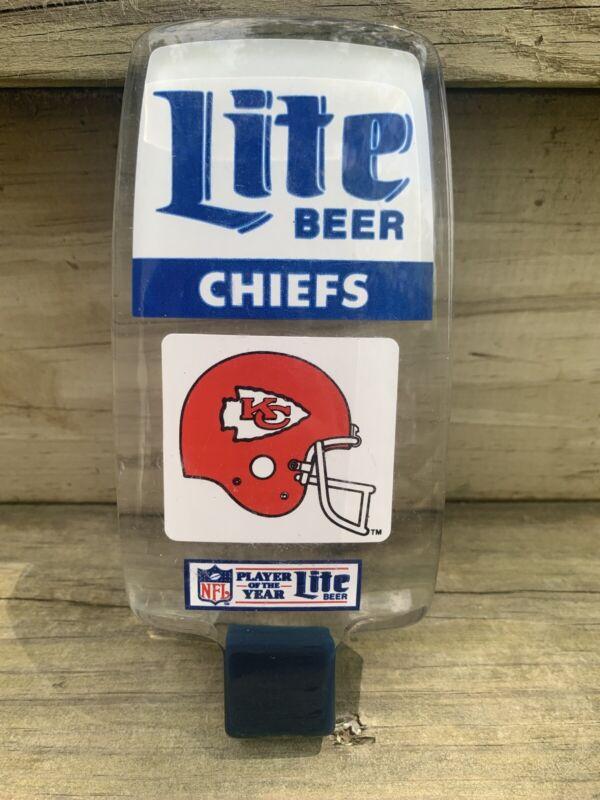 Vintage KC Chiefs Lucite Miller Lite Beer Tap Handle Tap  Acrylic Kansas City