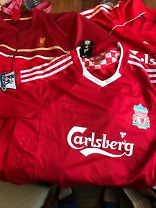 Lot of 3 Liverpool jersey jacket soccer