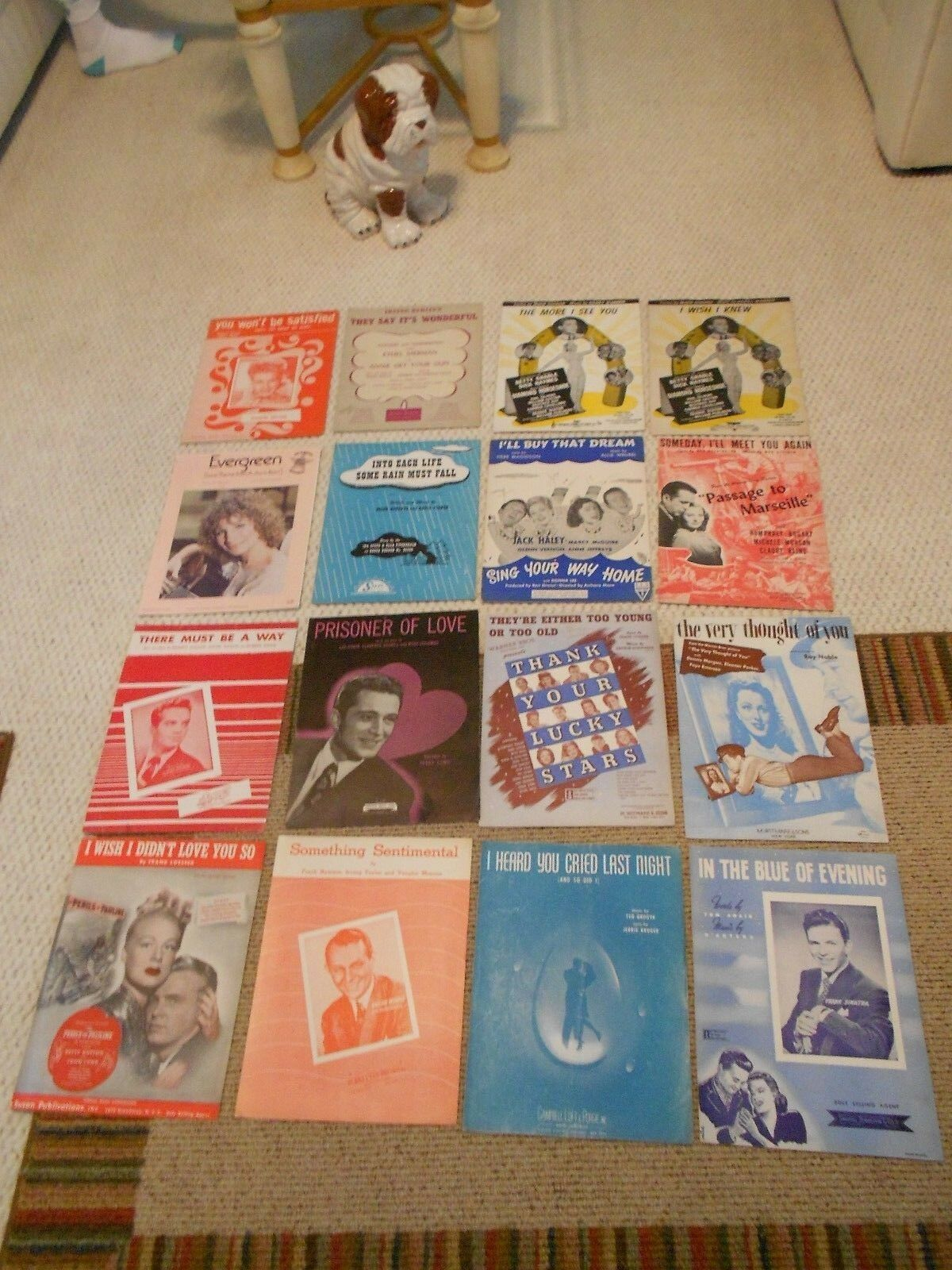CLASSIC SHEET MUSIC 16 PIECES-COMPLETE - $10.99