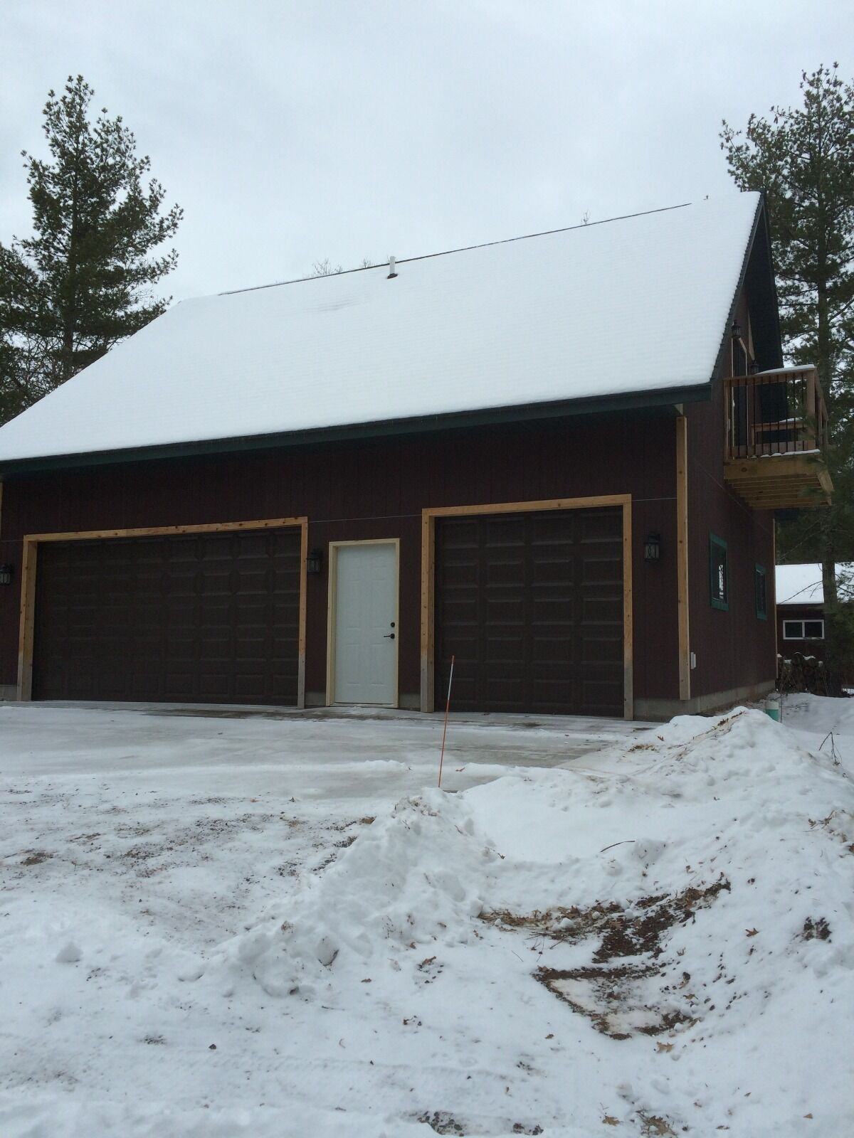 Cabin cottage 3 car garage bunk house plans blueprints for Cottage garage plans