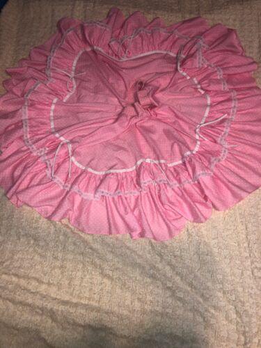 Vtg Partners Please by Malco Modes Square Dance Full Circle Skirt Polka Dot M