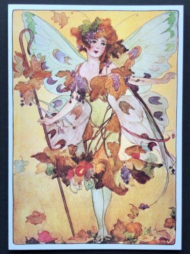 Blank Art Note Card AUTUMN FAIRY wings NOS Pleiades Press #130 fantasy harvest