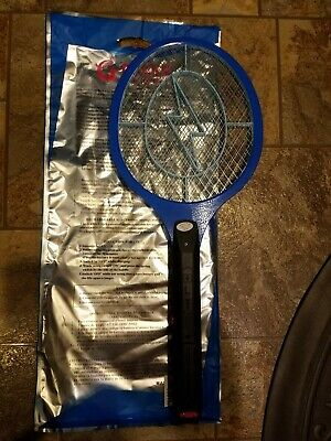 Tennis Racket Electronic Fly swatter BLUE-Mosquito Insect (Electronic Handheld Insect Zapper)