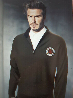 NWT Kent & Curwen X David Beckham 1926 ROSE patch merino wool sweater size XL